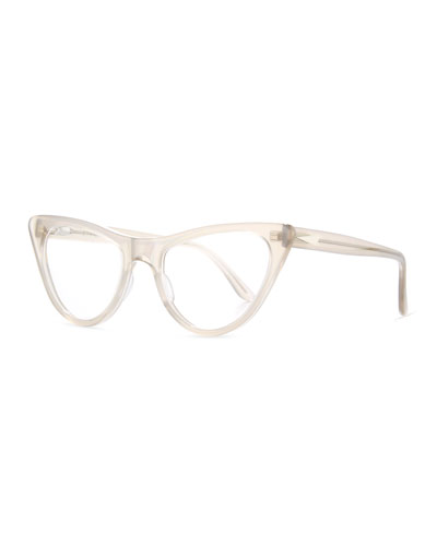 St. Louis Cat-Eye Optical Frames, Translucent Taupe