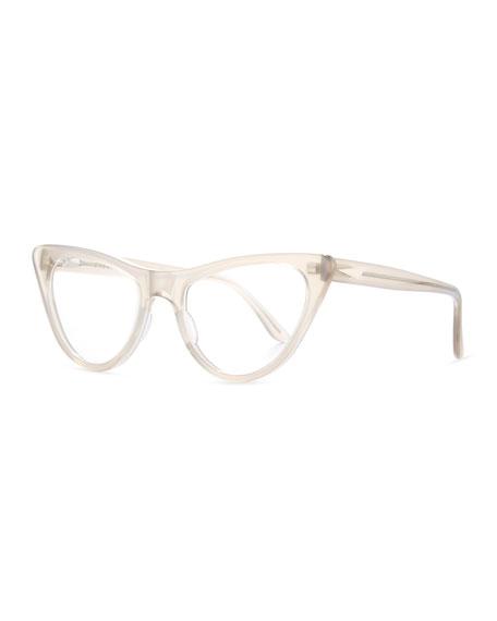 prism st louis cat eye optical frames translucent taupe