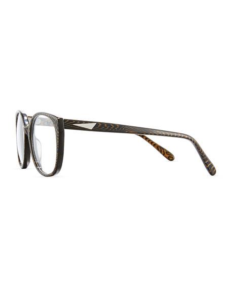 Tokyo Striped Optical Frames, Tiger