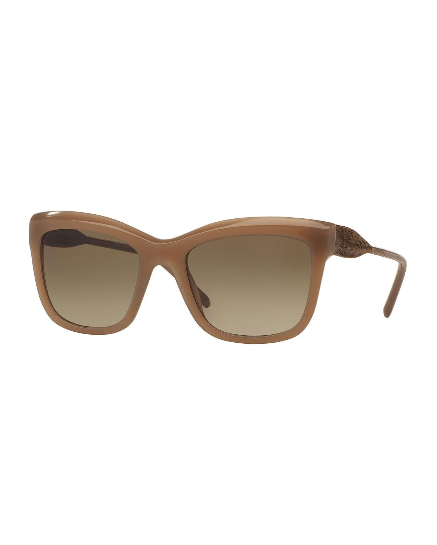 c0b9c75234 Burberry Lace-Embossed Square Sunglasses