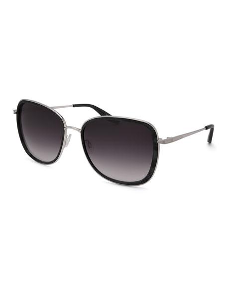 Barton Perreira Tiegs Gradient Square Sunglasses, Black