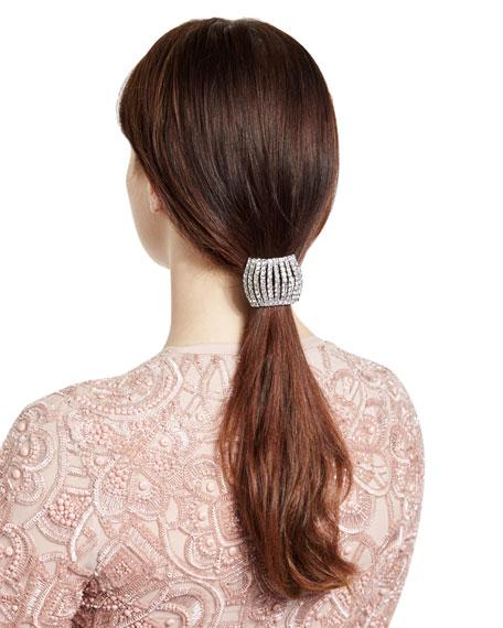 Jennifer Behr Chiara Shimmering Ponytail Wrap, Crystal