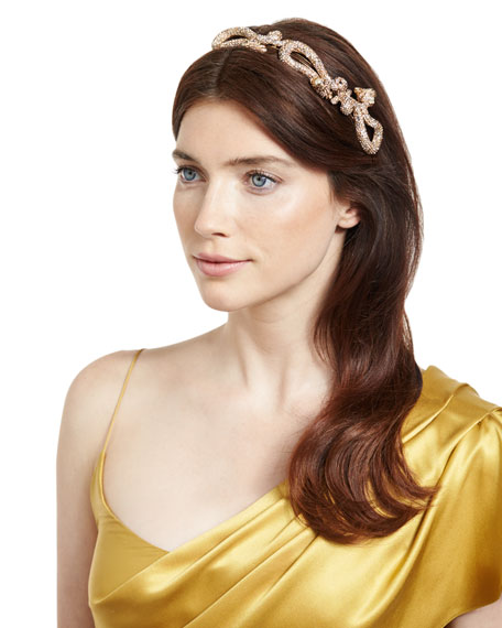 Jennifer Behr Hydra Pavé Dragon Tiara, Gold