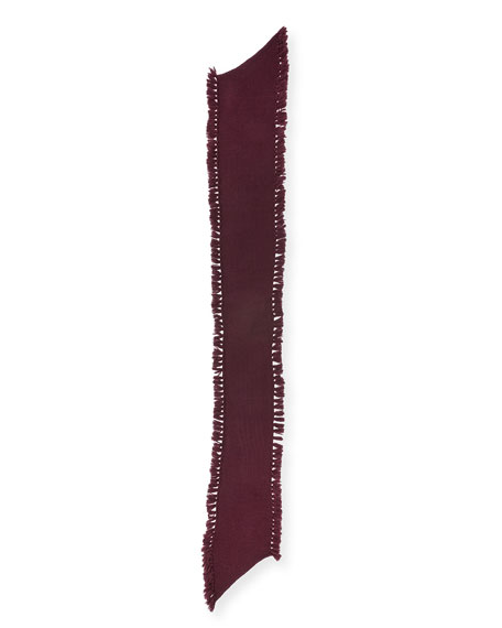 Asymmetric Tassel Scarf, Aubergine