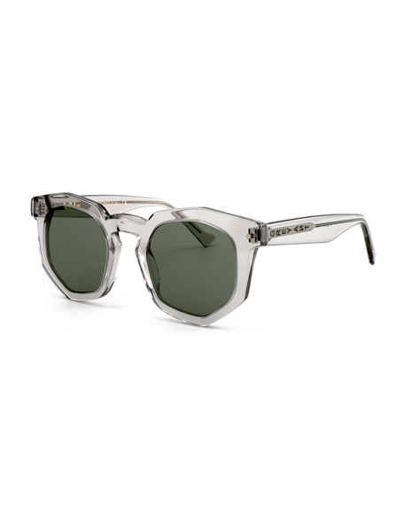 Grey Ant Composite Geometric Sunglasses, Light Gray