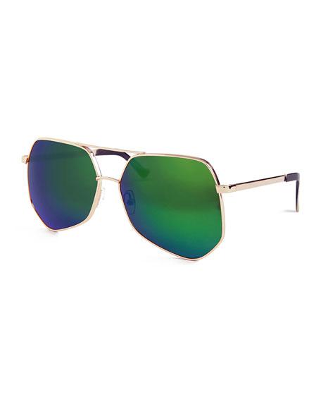 Megalast II Aviator Sunglasses, Gold