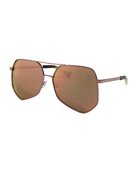 Grey Ant Megalast II Aviator Sunglasses, Pink
