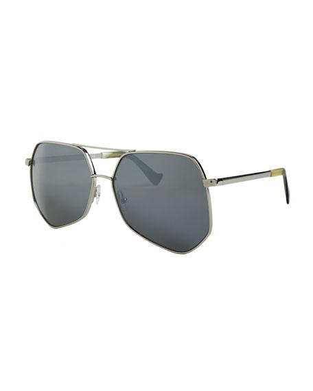 Megalast II Aviator Sunglasses, Silver
