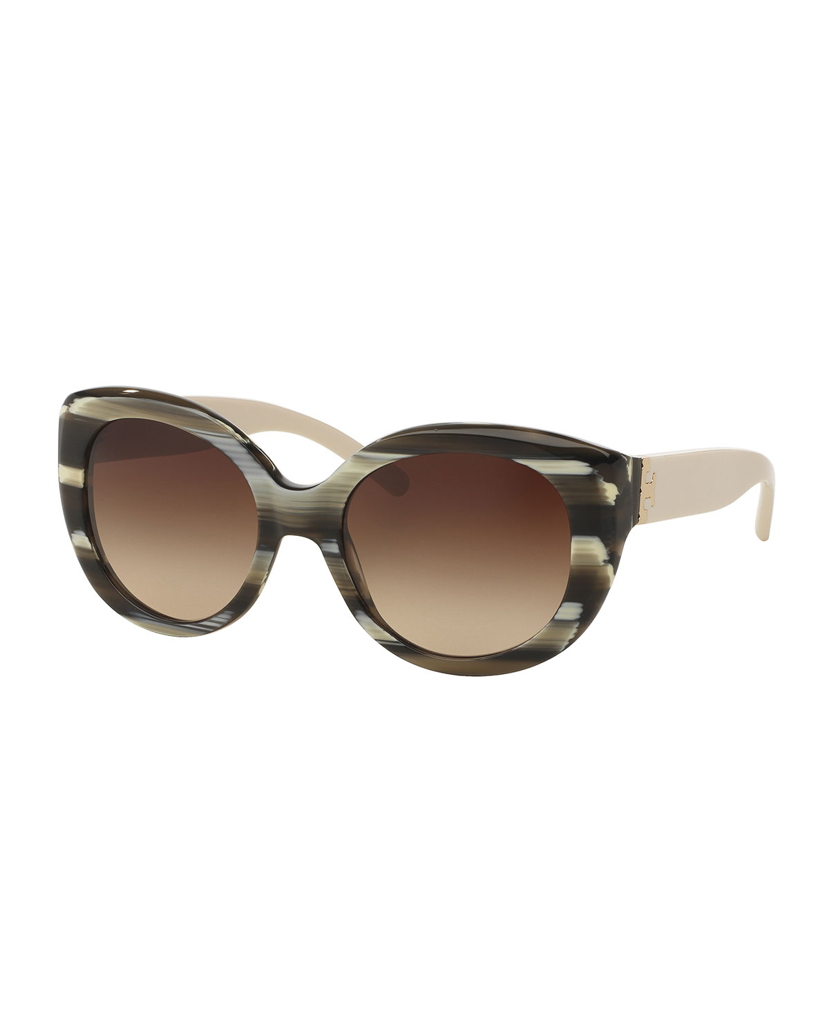 a7a46f2e96 Tory Burch Two-Tone Streaked Cat-Eye Sunglasses
