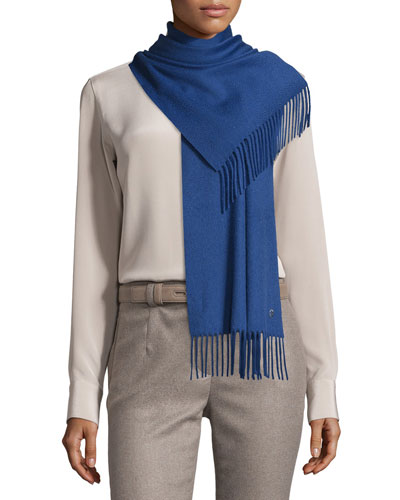 Sciarpa Grande Cashmere Scarf, Winter Sea