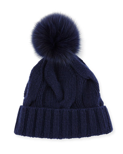 Baby Cashmere® Courchevel Beanie Hat, Sapphire