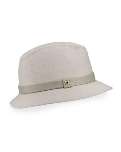 Ingrid Baby Cashmere® Felt Fedora Hat, Gray