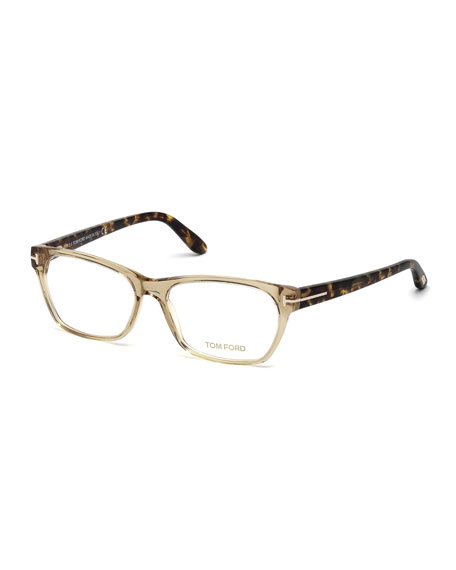 tom fordtwo tone square optical frames champagne