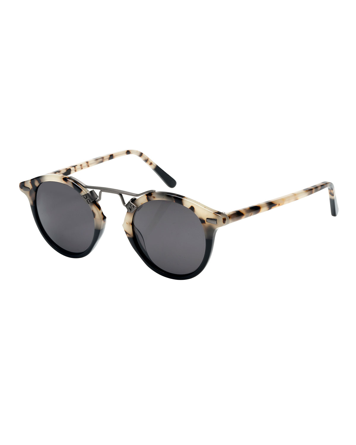 792772d43ad0 KREWE St. Louis Round Polarized Two-Tone Sunglasses