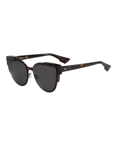 Wildly Dior Cat-Eye Sunglasses, Havana/Burgundy