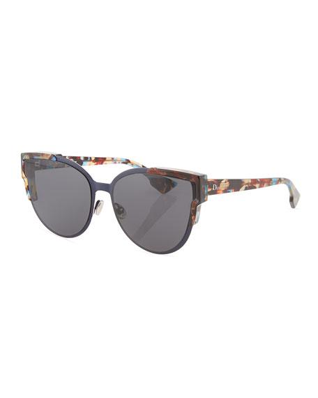 Wildly Dior Cat-Eye Sunglasses, Havana/Black