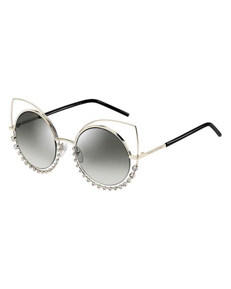 Marc jacobs metal rim gradient cat eye sunglasses jpg 456x570 Marc jacobs  floating cat eye sunglasses 698bd021b8