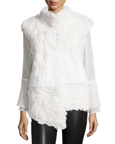 Kalgan Lamb & Rabbit Fur Vest, White