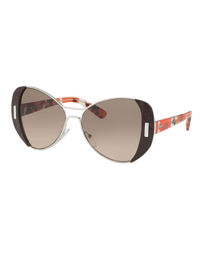 prada leather sunglasses