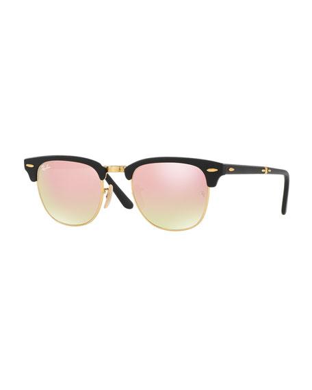 Foldable Clubmaster® Flash Sunglasses, Copper/Black