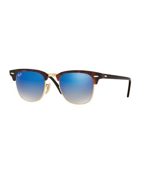 Ray-Ban Clubmaster® Flash Sunglasses, Blue/Havana
