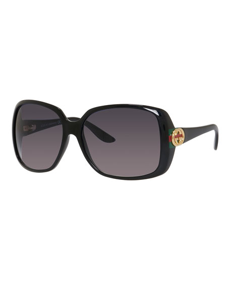Gucci Oversized Square Sunglasses  gucci sunsights oversized square sunglasses black