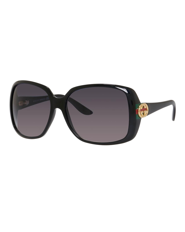 d3e3c3c75ed Gucci Sunsights Oversized Square Sunglasses