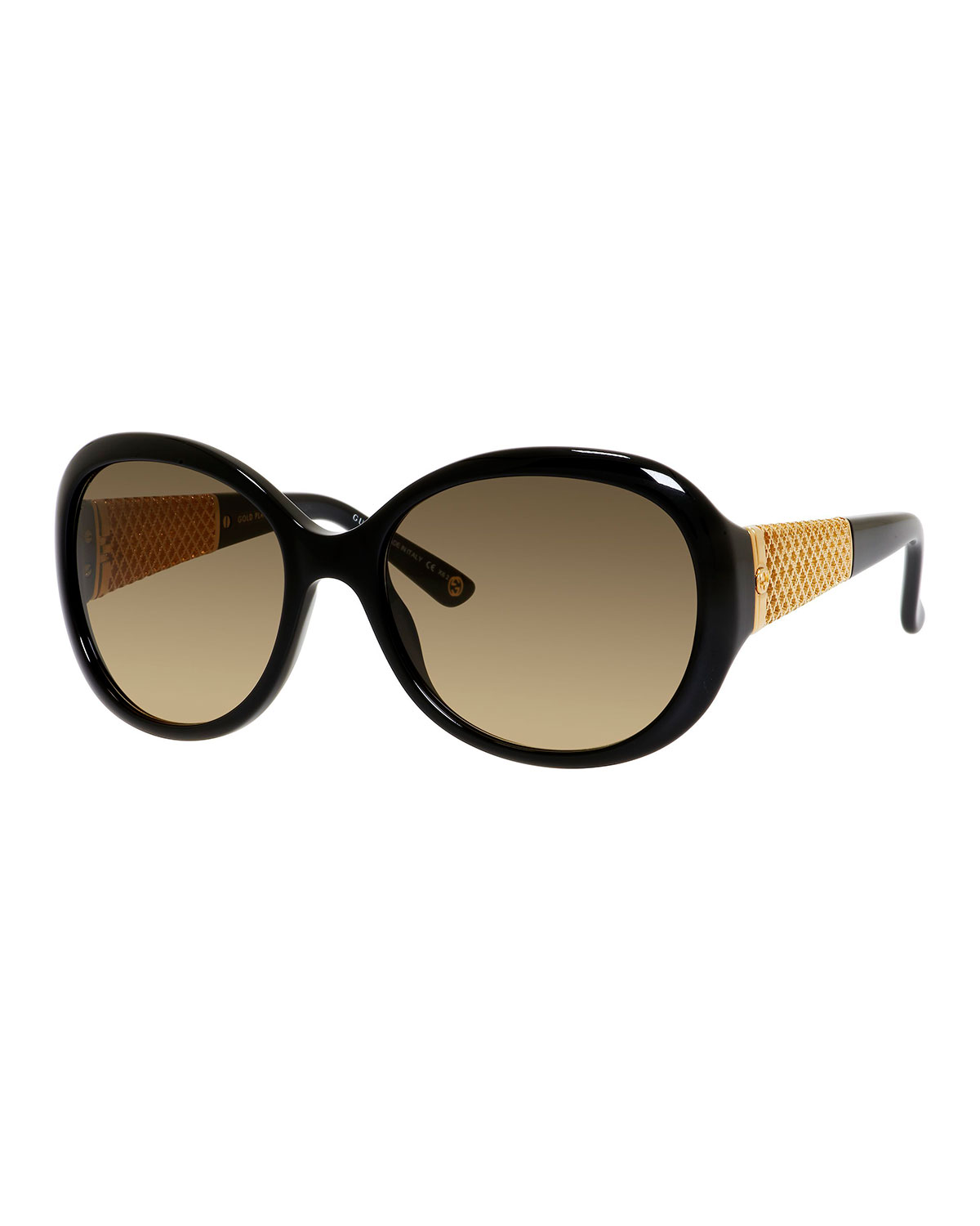 a1a7b5ebe4d Gucci Sunsights Oversized Diamantissima Butterfly Sunglasses