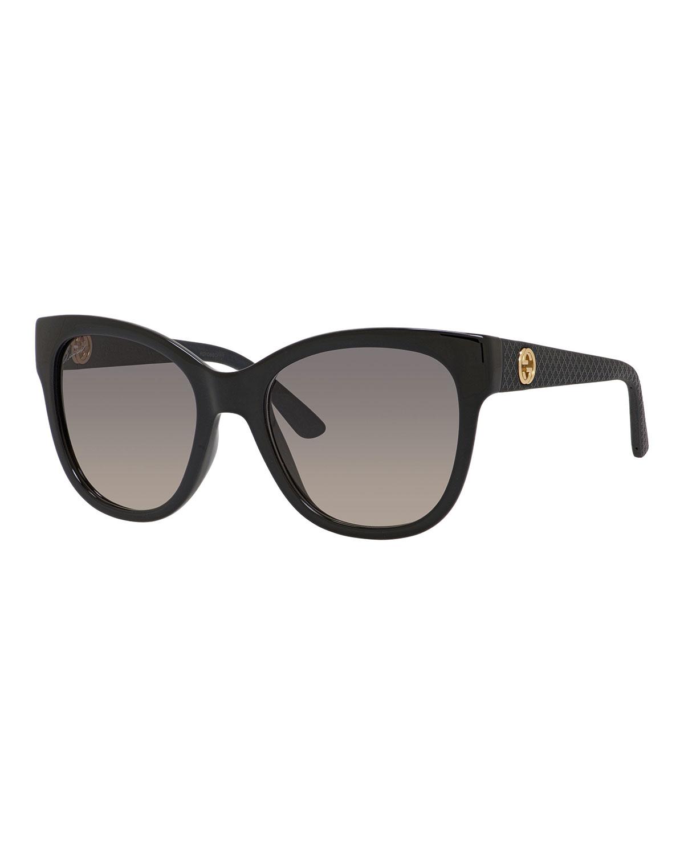 cb2bdfdd4e9 Gucci Sunsights Gradient Diamantissima Cat-Eye Sunglasses