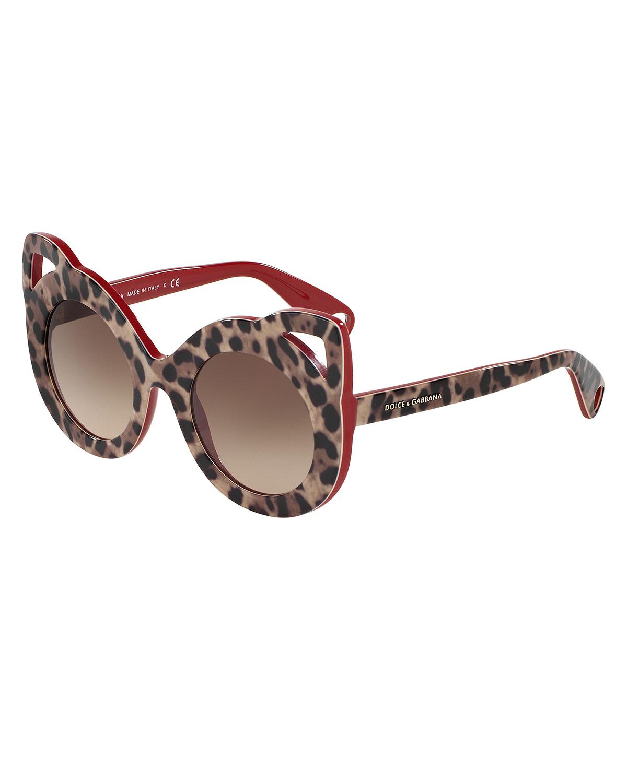 ed8901841b1 Dolce   Gabbana Girls  Leopard Cat Sunglasses