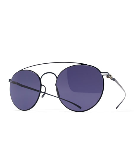 Esse Round Aviator Sunglasses, Blue