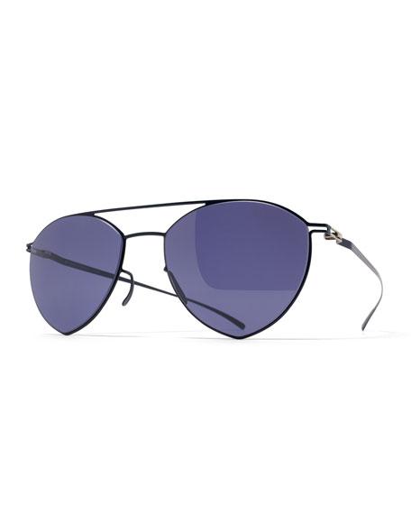 MYKITA + Maison Margiela Esse Angular Aviator Sunglasses,