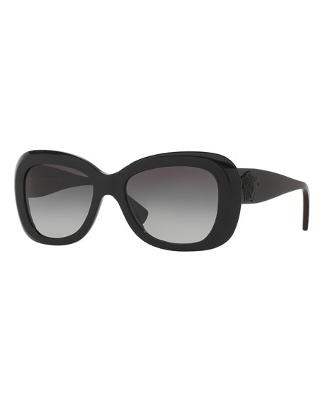 Universal-Fit Butterfly Sunglasses, Black