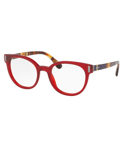 Square Optical Frames, Red