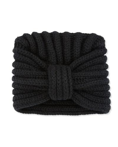Classic Cashmere Head Turban, Black