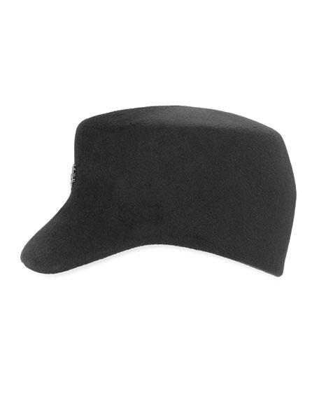 Wool Felt Baseball Cap, Black