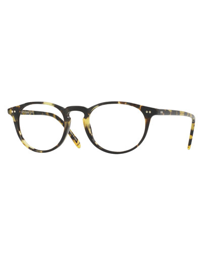 Riley Round Optical Frames, Black