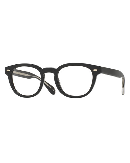 Oliver Peoples Sheldrake Square Optical Frames, Black