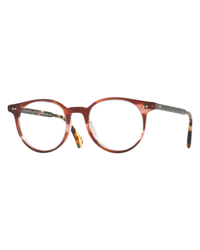 Delray Round Optical Frames, Red