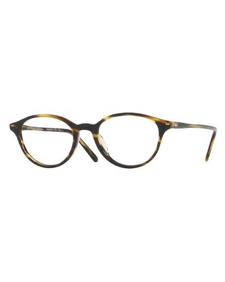 Oliver Peoples Mareen Round Optical Frames, Light Brown