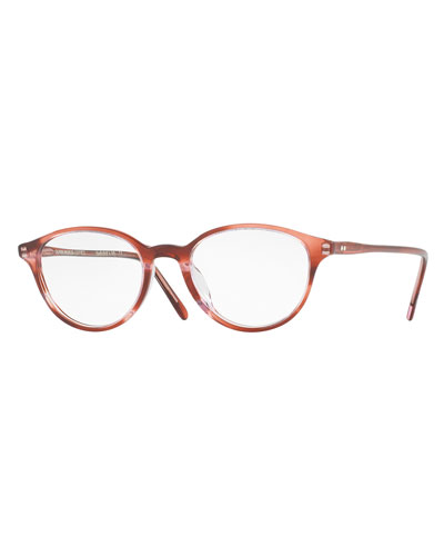 Mareen Round Optical Frames, Red