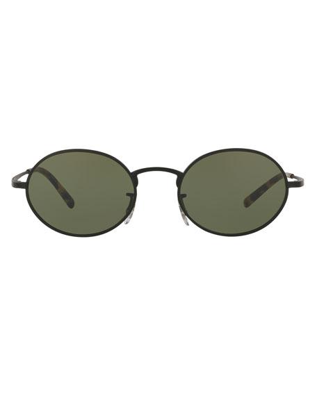 Empire Suite Monochromatic Oval Sunglasses, Bronze/Rose