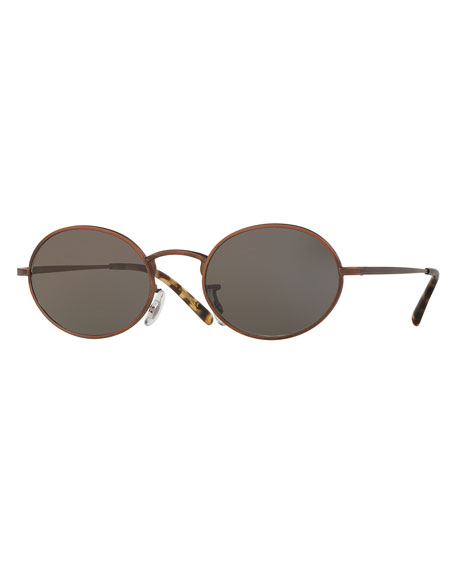 Oliver Peoples Empire Suite Monochromatic Oval Sunglasses,