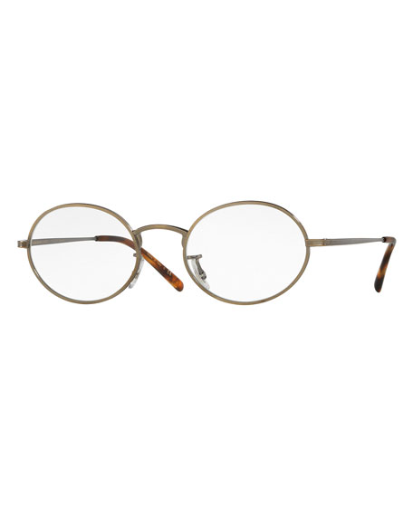 Oliver PeoplesEmpire Suite Photochromic Oval Sunglasses, Gold/Clear