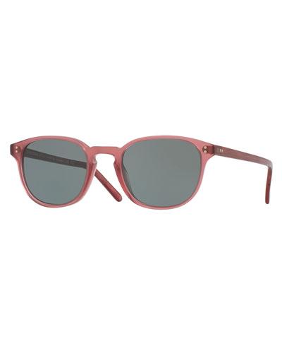 Fairmont Mirrored Square Sunglasses, Pink