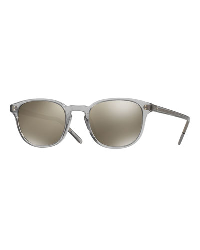 Fairmont Mirrored Square Sunglasses, Gray
