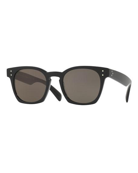 Oliver Peoples Byredo Square Monochromatic Sunglasses, Black