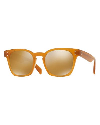 Byredo Square Mirrored Sunglasses, Orange