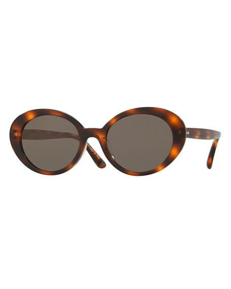 faf1e73d8cf7e Oliver Peoples Parquet Monochromatic Oval Sunglasses