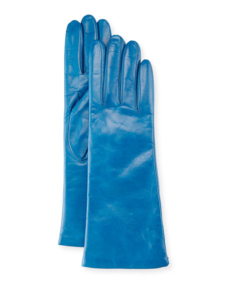 Napa Leather Gloves, Mineral Blue